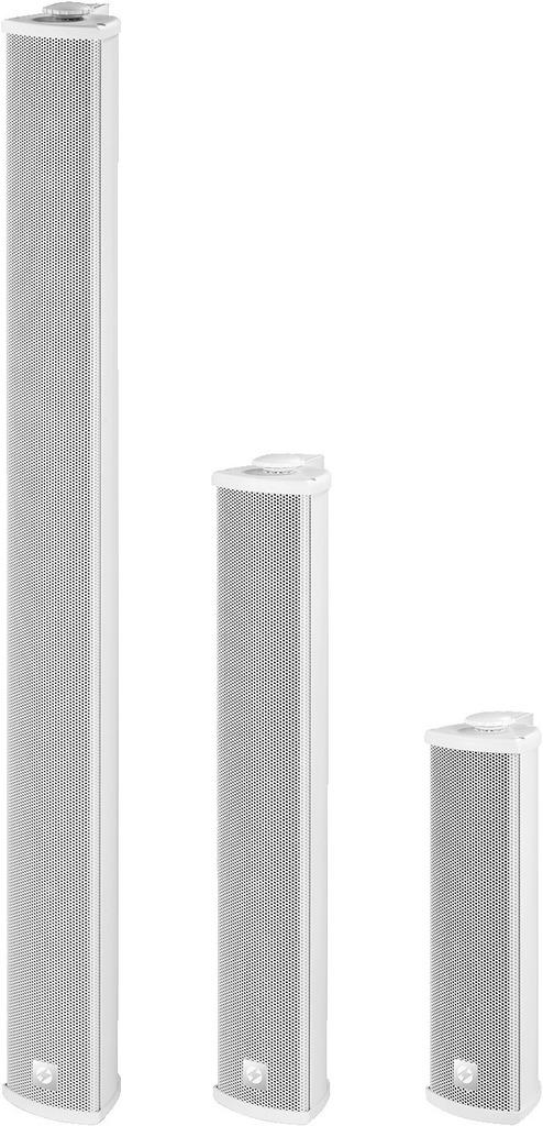 MONACOR ETS-210TW/WS ELA-Tonsäule, Aluminium, schmal, wetterfest