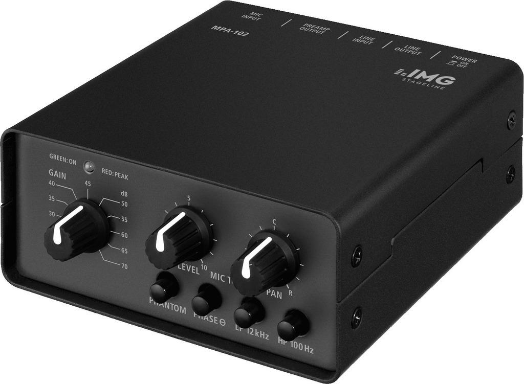 IMG STAGELINE MPA-102 1-Kanal-Low-Noise-Mikrofon-Vorverstärker