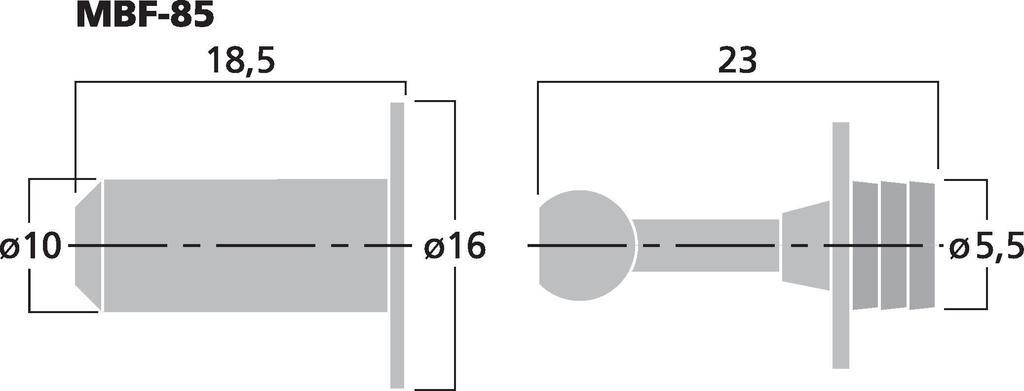 MONACOR MBF-85 LS-Rahmendübel-Set