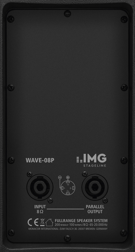 IMG STAGELINE WAVE-08P Passive Fullrange-Lautsprecherbox, 200 W, 8 Ω