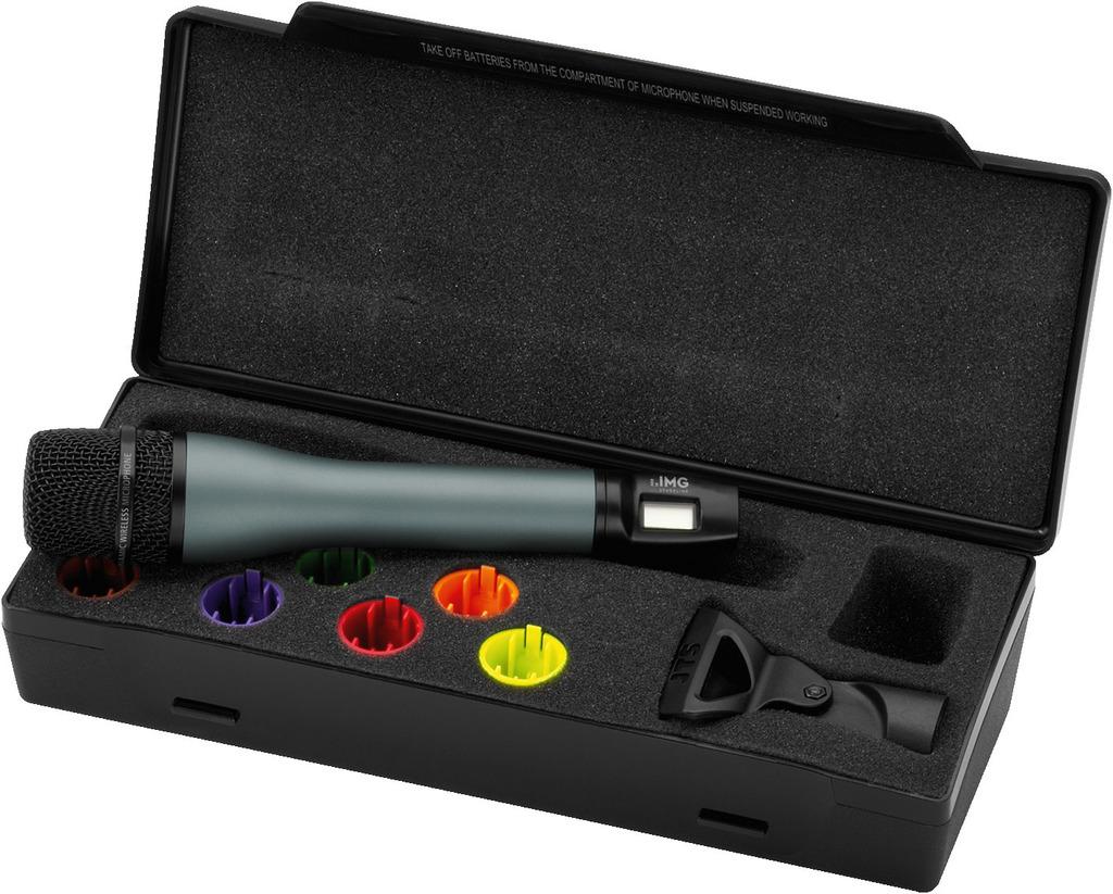 IMG STAGELINE TXS-895HT Handmikrofon mit integriertem Multi-Frequenz-Sender, 518-542 MHz