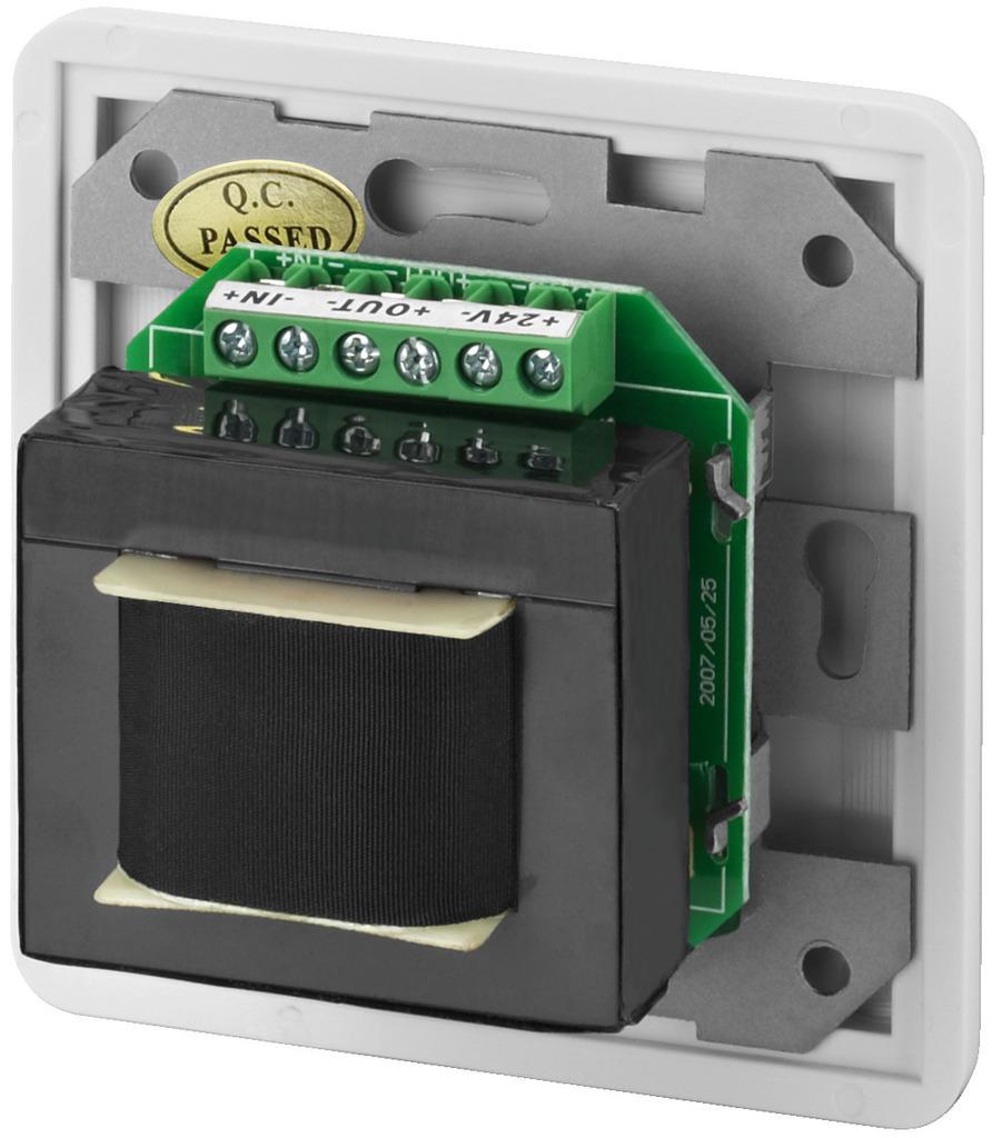 MONACOR ATT-3100PEU ELA-Einbau-Lautstärkesteller mit 24-V-Pflichtempfangsrelais, 100 W