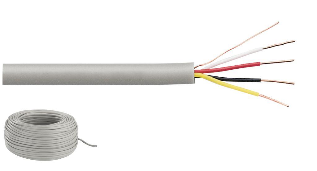 MONACOR JYSTY-2208 Signalkabel, Typ J-Y(St)Y, 4 x 0,5 mm2, 100 m