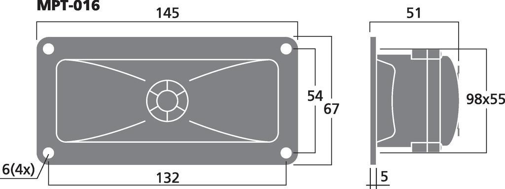 MONACOR MPT-016 Piezo-Hochtöner
