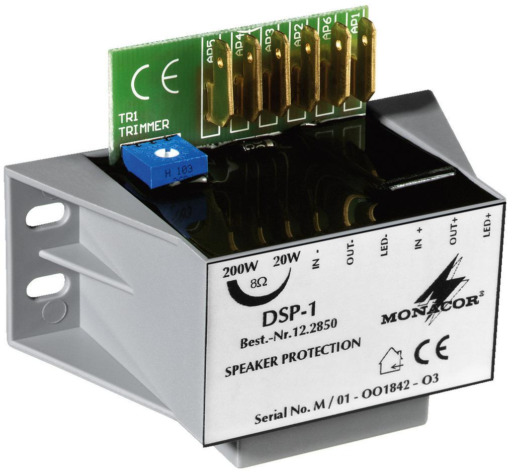 MONACOR DSP-1 Mono-Lautsprecher-Schutzmodul