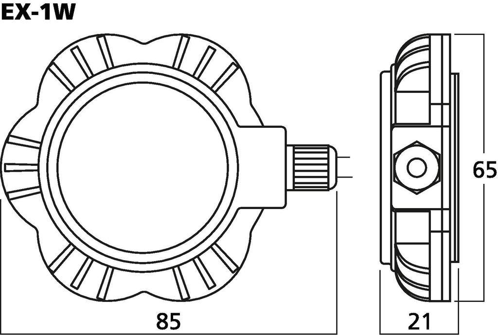 MONACOR EX-1W Audio-Exciter/Resonator, 5 W, 8 Ω