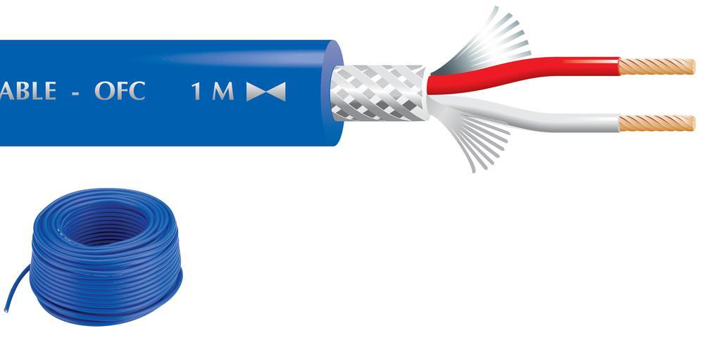 """MONACOR MLC-52/BL Mikrofonkabel, 2 x 0,22 mm2, 50 m, """"TOP QUALITY"""""""
