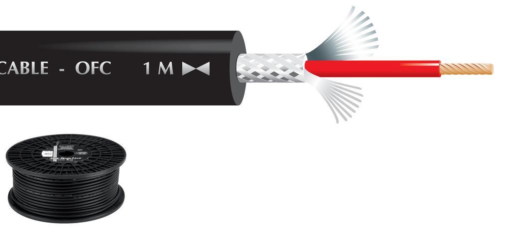 """MONACOR MLC-150/SW Mikrofonkabel, 1 x 0,7 mm2, 100 m, """"TOP QUALITY"""""""
