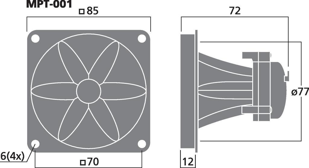 MONACOR MPT-001 Piezo-Hochtöner