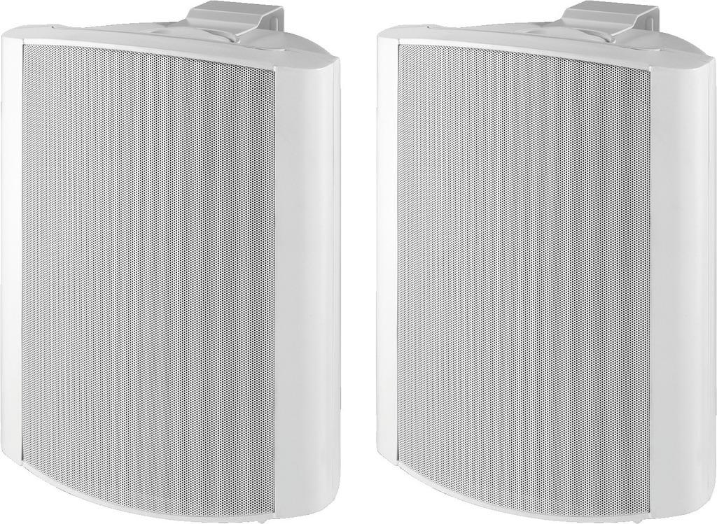 MONACOR MKS-88/WS 2-Wege-Lautsprecherboxen-Paar, 85 W, 8 Ω