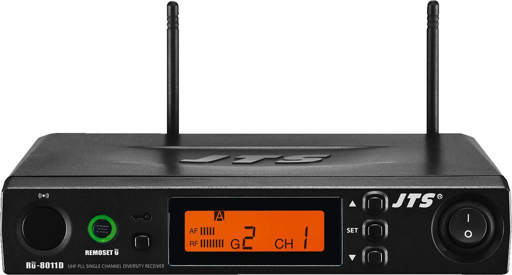 JTS RU-8011D/5 Diversity-UHF-PLL-Breitband-Empfänger